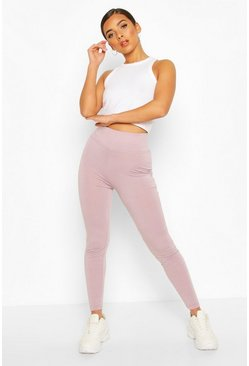Basic High Waist Tonal Legging, Fawn