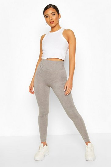 Grey Basic High Waist Tonal Legging