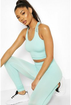 Aqua Fit Laser Cut Seamfree Gym Leggings