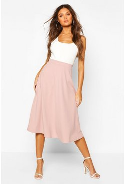 Fawn Plain Full Circle Midi Skirt