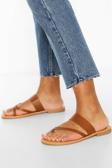 Tan Toe Post Sandals