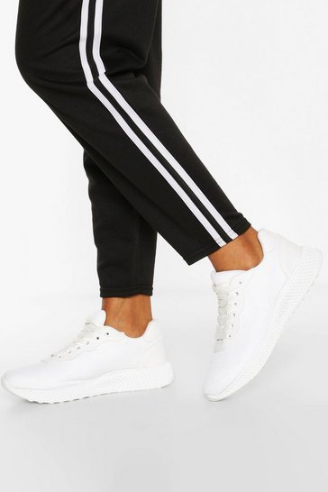 White Basic Sports Trainers