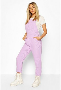 Lilac Denim Boyfriend Dungaree