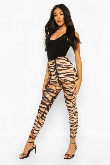 Sand Tiger Print Ruched Bum Leggings
