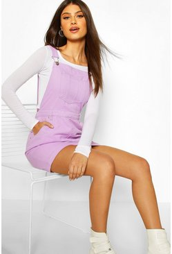 Lilac Denim Pinafore Dress