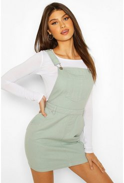 Mint Denim Pinafore Dress