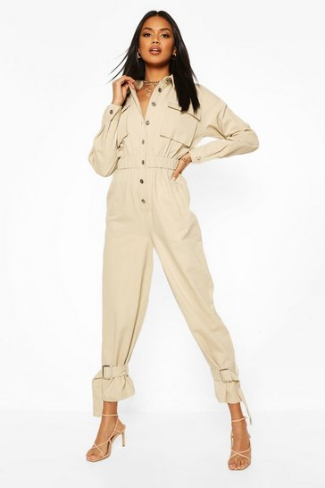 Stone Utility Cuff Detail Boilersuit