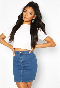 Mid blue Power Stretch Denim Skirt