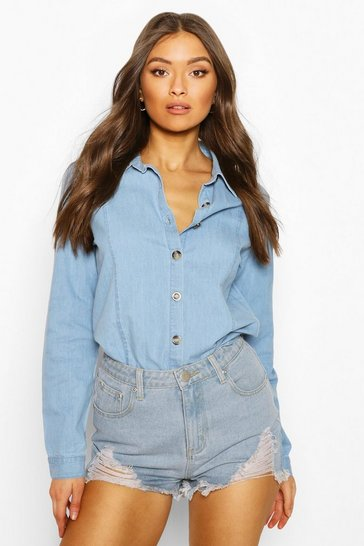 Light blue Light Weight Denim Shirt
