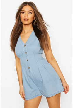 Light blue Light Weight Denim Playsuit