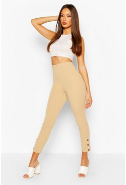 Sand Button Hem Legging