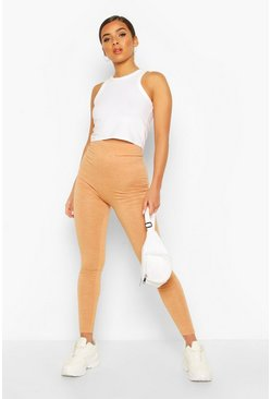 Ochre Basic High Waist Skin Tone Leggings