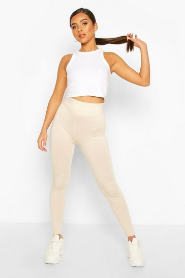 Sand Basic Deep High Waist Tonal Leggings