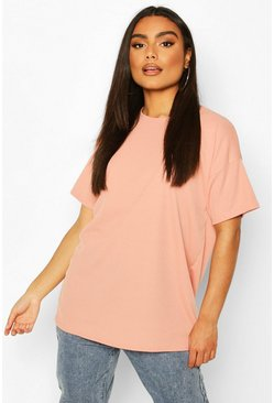 Blush Ribbed Oversized T-Shirt