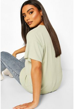 Sage Ribbed Oversized T-Shirt