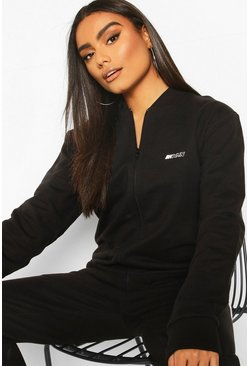 Black Boohoo Woman Zip Through Jacket