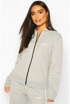 Grey marl Boohoo Woman Zip Through Jacket