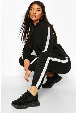 Black Reflective Side Stripe Jogger