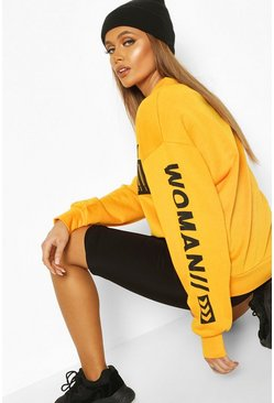 Orange Woman Bright Oversized Sweat