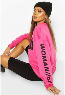 Pink Woman Bright Oversized Sweat
