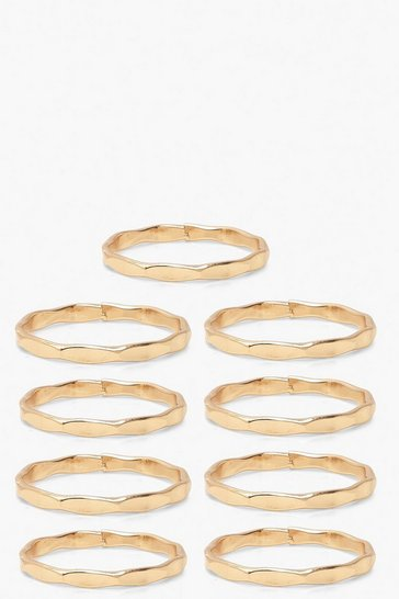 Gold Stacking Ring 10 Pack