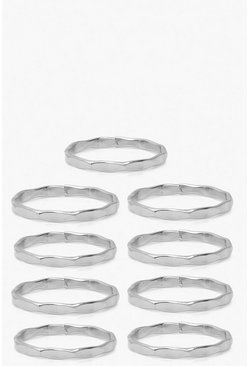 Silver Stacking Ring 10 Pack
