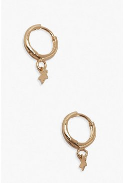 Gold Mini Star Hoop Earrings