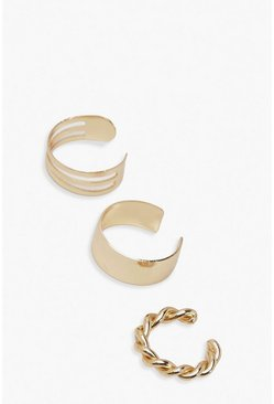 Gold Ear Cuff 3 Pack