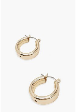 Gold Mini Chunky Hoop Earrings