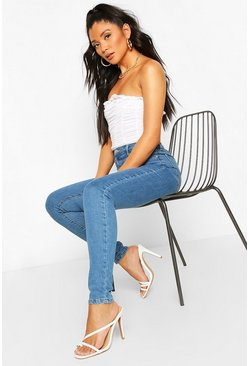 Mid blue Power Stretch High Waist Skinny Jean