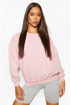 Baby pink Washed Oversized Sweat