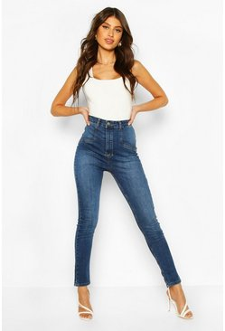 Mid blue Power Stretch High Rise Skinny Jean