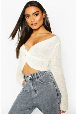 Ivory Off Shoulder Jumper