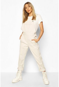 Stone Boyfriend Denim Dungaree