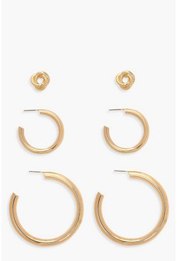 Gold Hoop & Stud Pack
