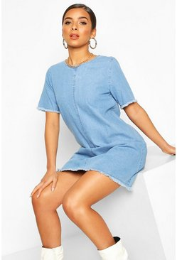 Mid blue Oversized Denim Dress