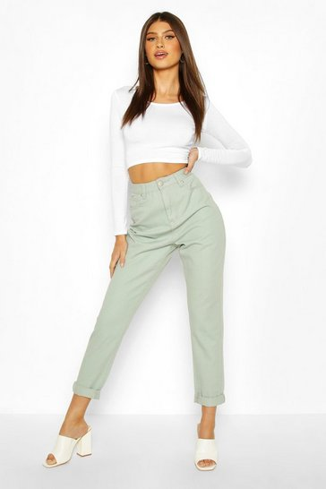 Mint High Rise Mom Jean