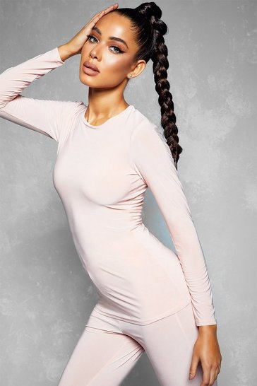 Blush Soft Touch Long Sleeve Gym Top