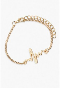 Heart Rate Bracelet, Gold