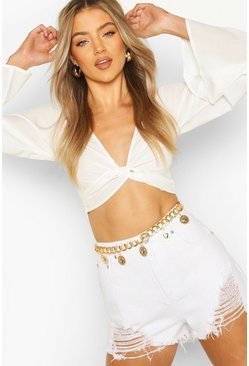 Gold Sun Trim Waist Belt