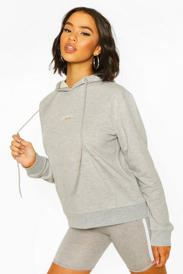 Grey marl Official Woman Over the Head Hoodie