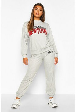 Grey Bronx New York Oversized Sweater Tracksuit