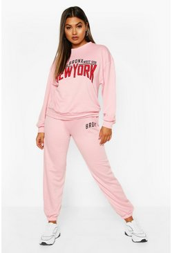 Pink Bronx New York Oversized Sweater Tracksuit