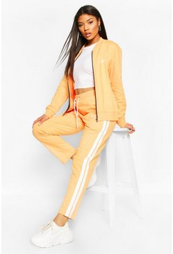 Orange Boohoo Woman Print Tricot Joggers