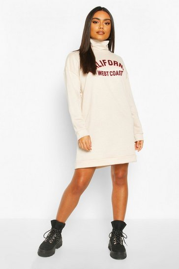 Sand California Funnel Neck Sweat dress