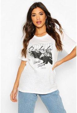 White Love Graphic T-Shirt
