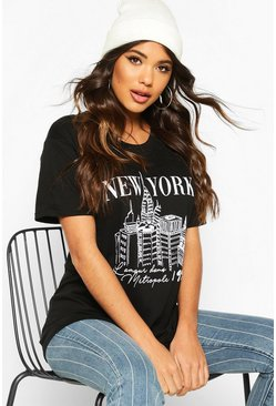 Black New York Graphic T-Shirt