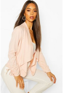 Nude Waterfall Crop Blazer
