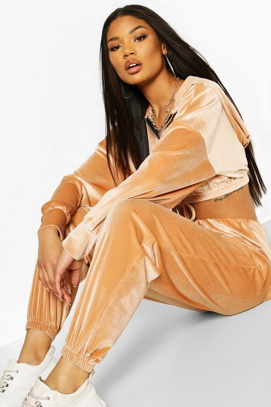 Stone Velour Slouchy Tracksuit Jogger