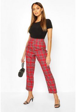 Red Tartan Check Trouser